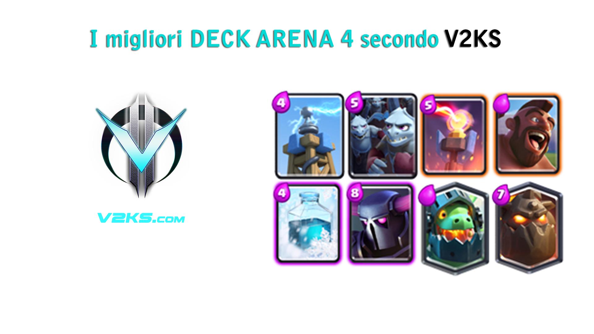 i migliori deck arena 4