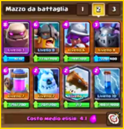 CLASH ROYALE NUOVO DECK